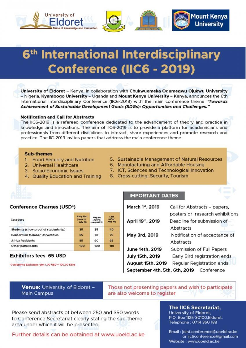 The 6th International Interdisciplinary Conference (IIC6)