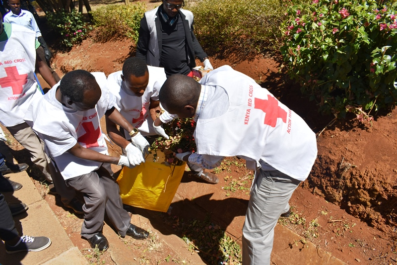 University Cleaning Conducted by the Kenya Red Cross